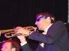 Jordan McLean on trumpet
